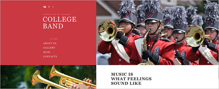 college-band-website-theme-templates