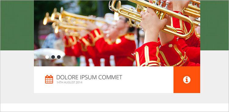 columbia-band-website-theme-templates