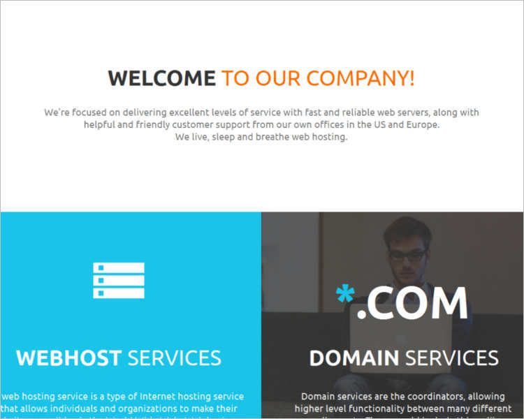 company-hosting-website-theme-templates