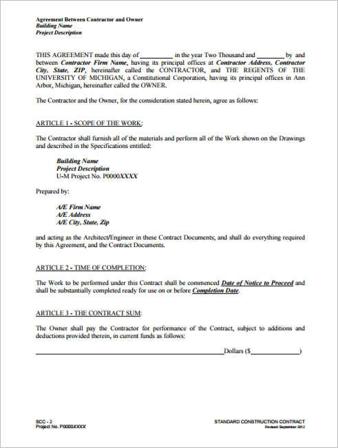 Construction Agreement Template Free Word PDF Formats - Building contractor agreement template