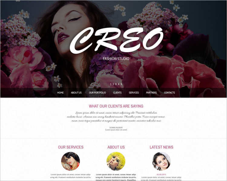 creo-fashion-design-website-templates