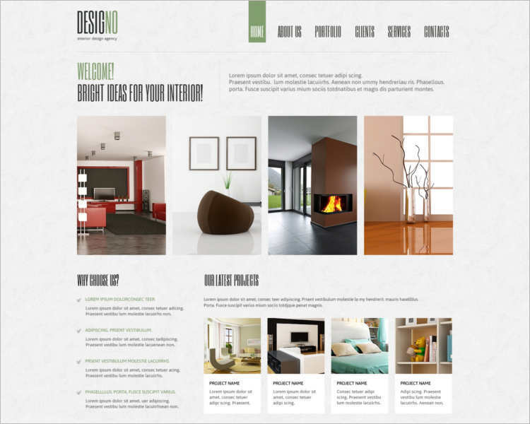 14 interior furniture joomla templates free download for Interior design layout templates