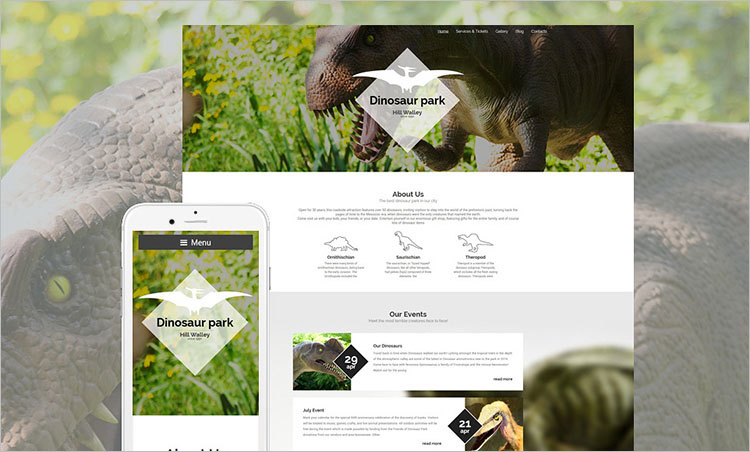 dinosaur-park-wordpress-theme
