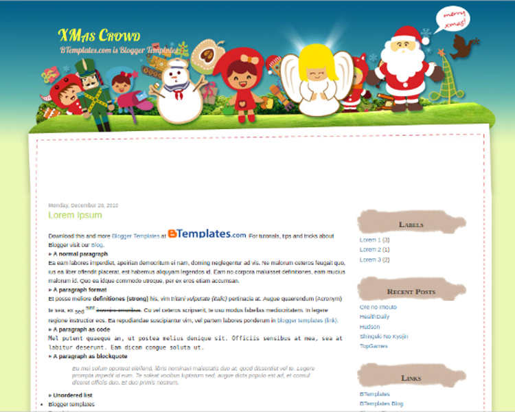 download-christmas-crowd-blogger-theme-templates