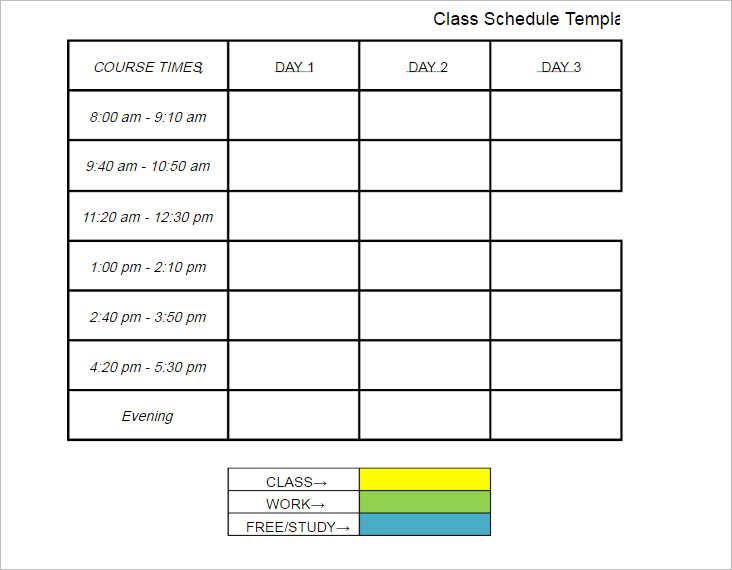 download-class-schedule-template-document