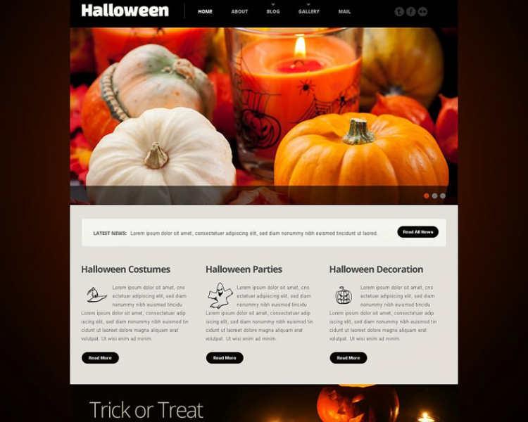 download-halloween-parties-website-template