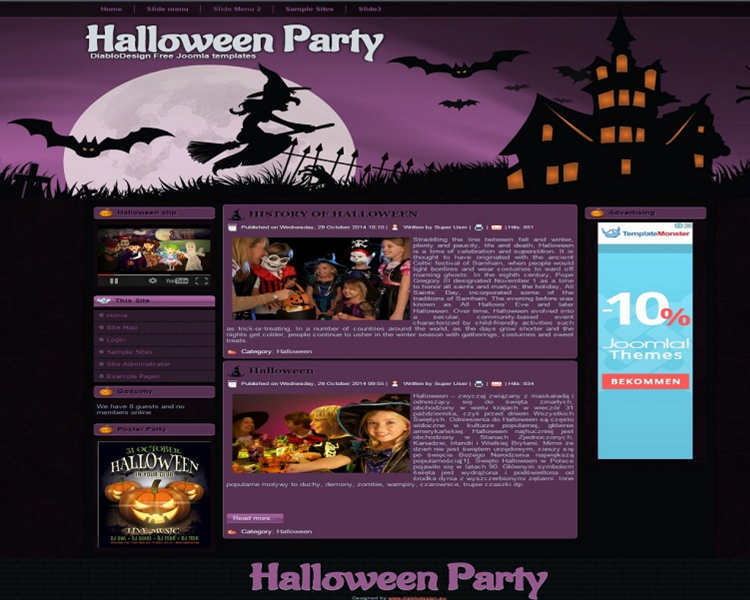 download-halloween-party-joomla-template