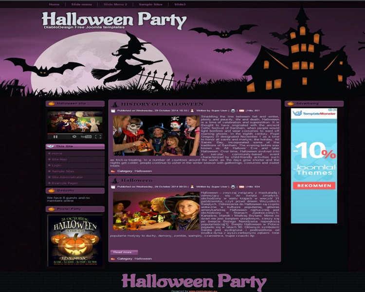 download-halloween-party-joomla-template