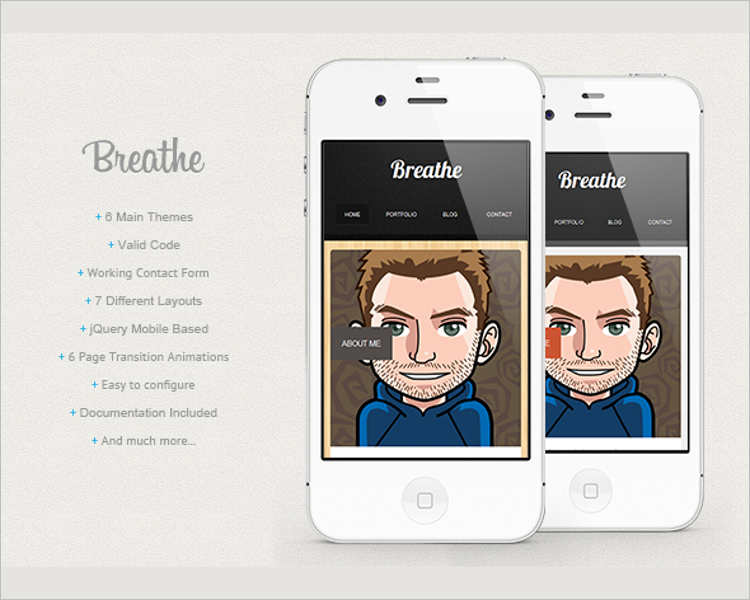 download-jquery-mobile-based-html-5-template