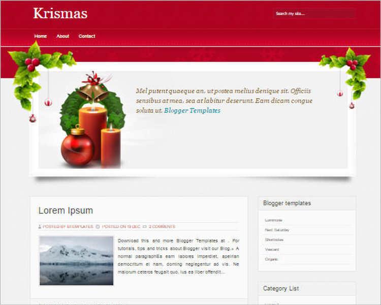 download-krismas-blogger-theme-templates