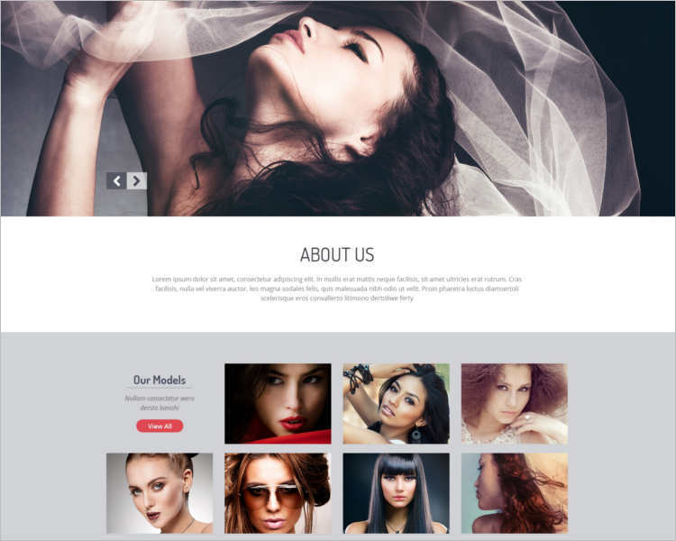 download-model-agency-website-templates