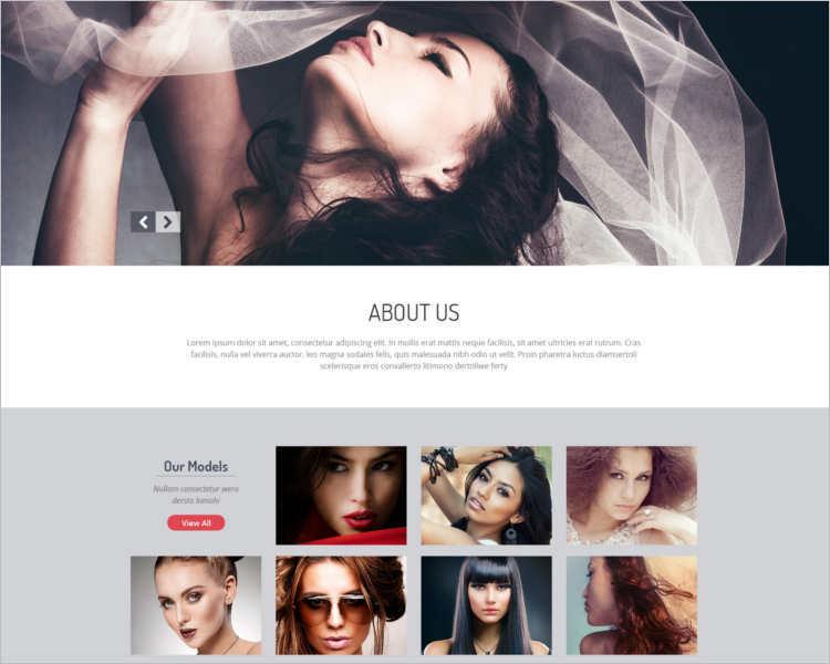 download-model-agency-website-templates