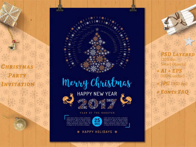 Download New Year 2017 Poster Design