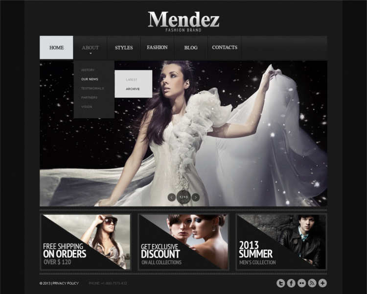 Fashion Designer Templates Website