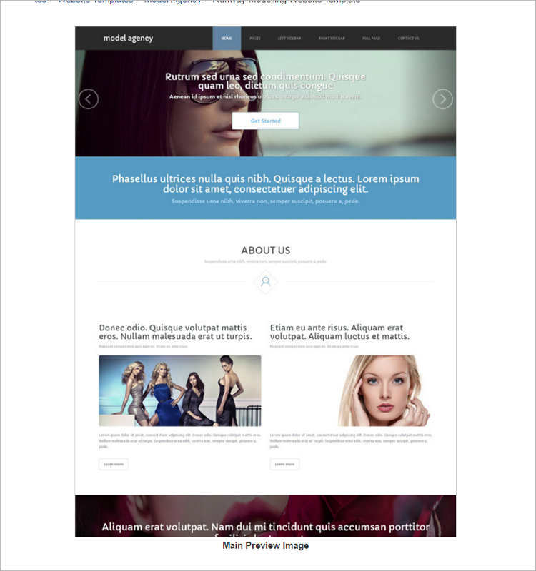 dream-model-agency-website-templates