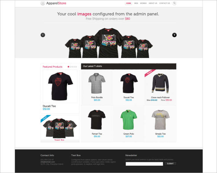 e-commerce-clothes-php-website-templates