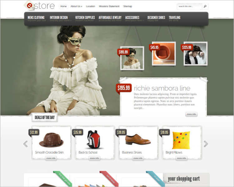 Php ecommerce website templates free premium for E commerce websites