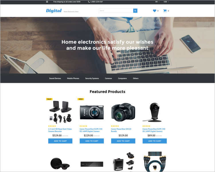e-commerce-electronic-store-php-website-templates