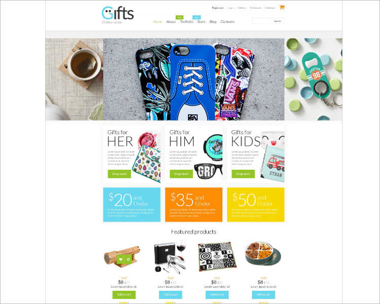 e-commerce-gifts-store-php-website-templates