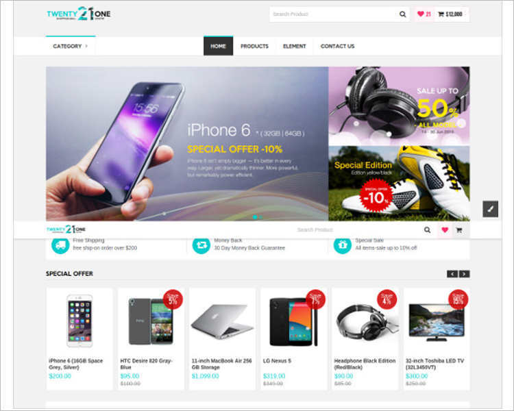 e-commerce-phone-php-website-templates