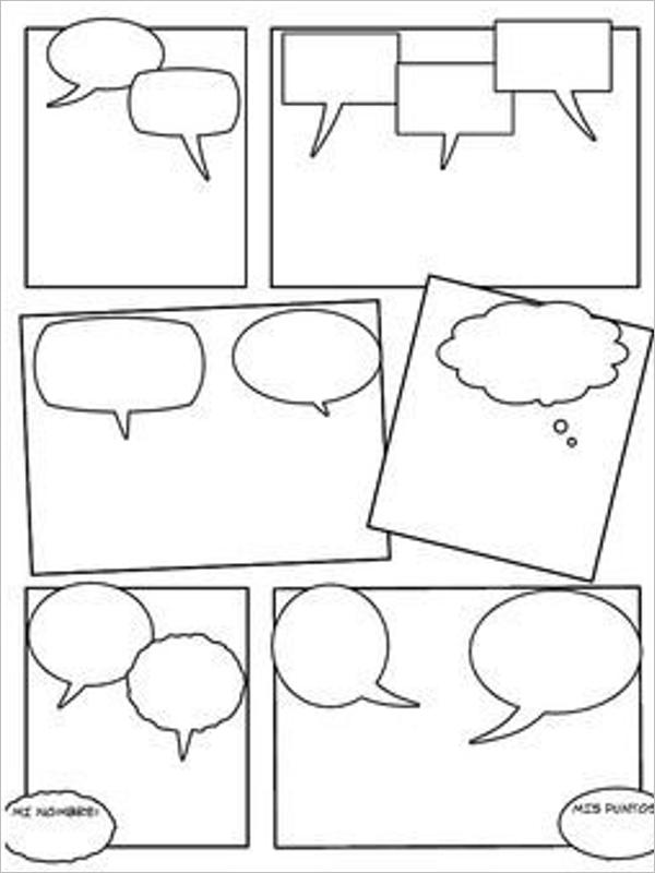 Editable Comic Strip Template