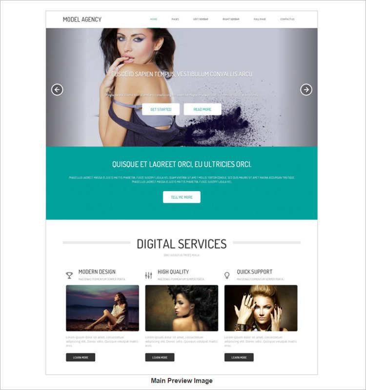 editorial-model-agency-website-templates