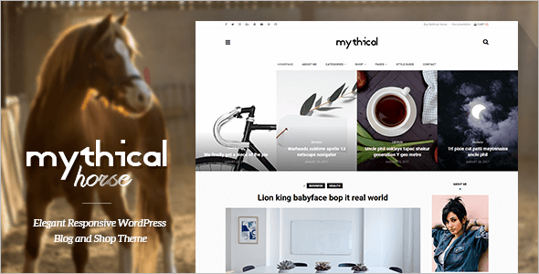 Elegant Horse WordPress Theme