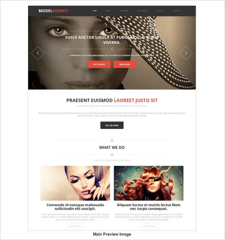elegant-model-agency-website-templates