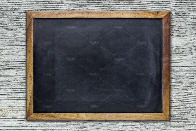 Empty Chalkboard Mockup Design