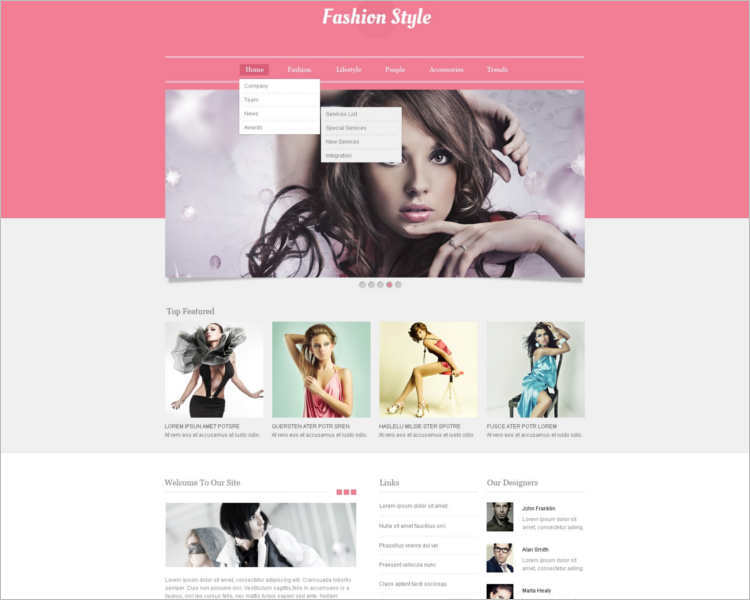 fashion-brand-design-website-templates