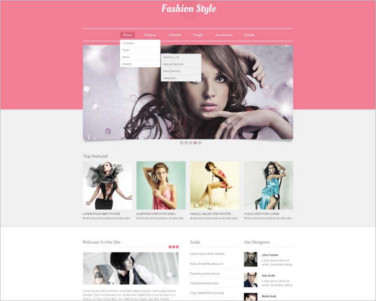 fashion-brand-design-website-templates
