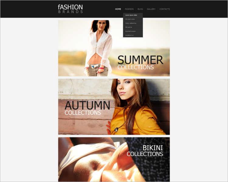 fashion-design-brands-website-templates