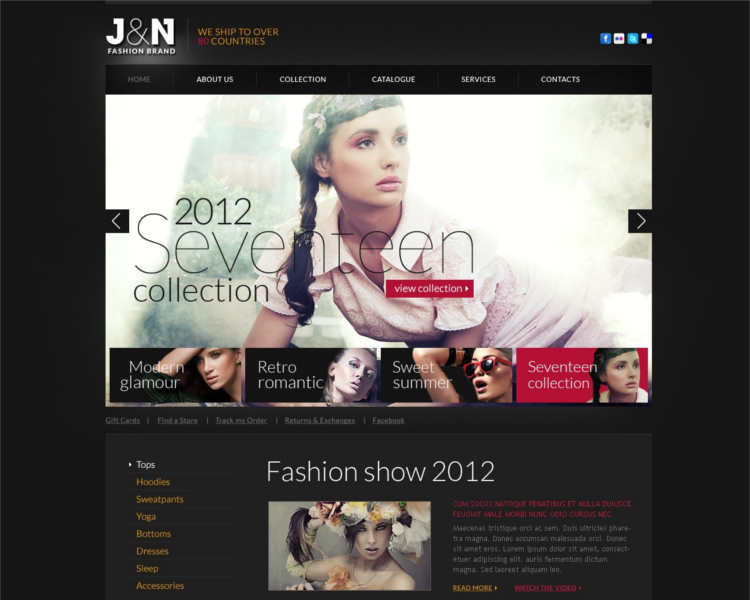 fashion-design-show-website-templates