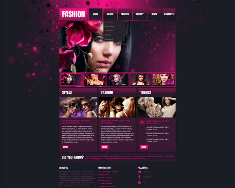 fashion-design-store-website-templates