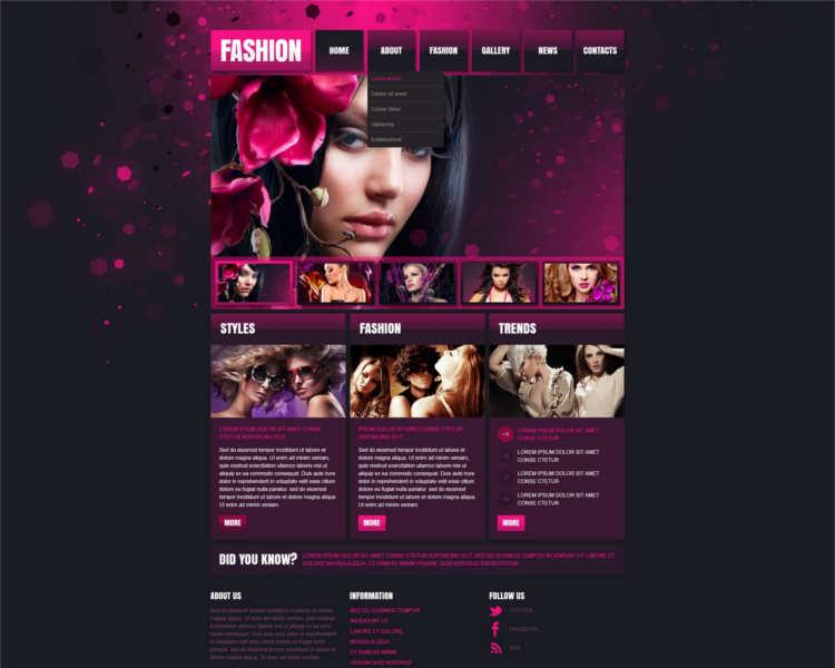 fashion-design-store-website-templates