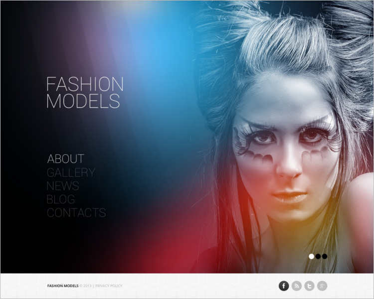 fashion-model-agency-website-templates