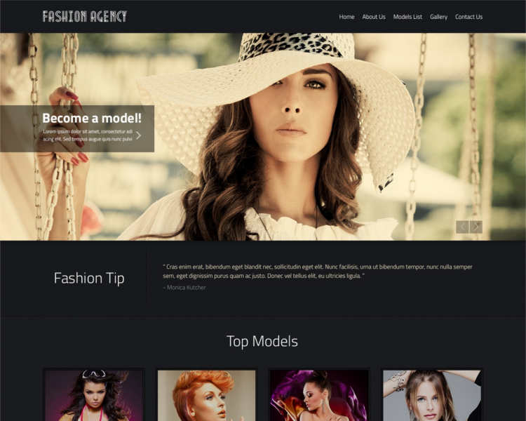 fashion-agency-tip-website-templates