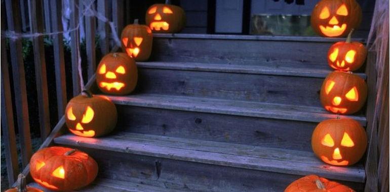 flaming-pumpkins