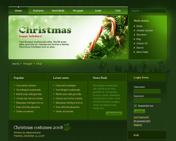 free-christmas-holiday-joomla-templates