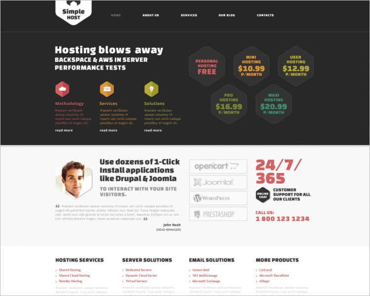free-creative-joomla-hosting-templates