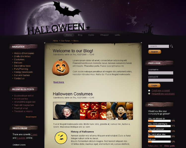 free-download-halloween-drupal-theme-template