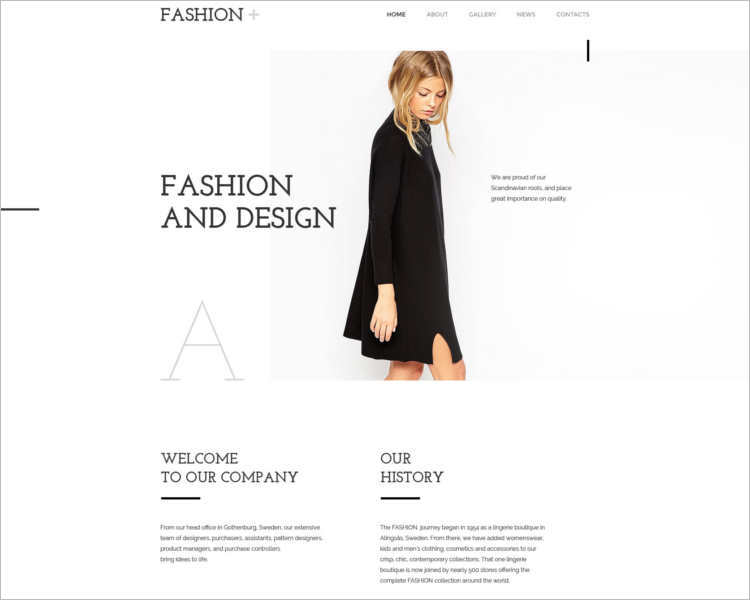 free-fashion-design-website-templates