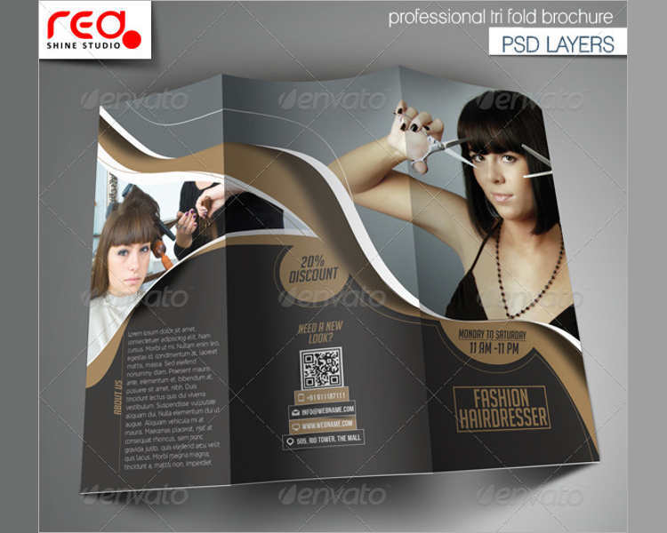 Fashion TriFold Brochure Templates Free Premium – Fashion Design Brochure Template