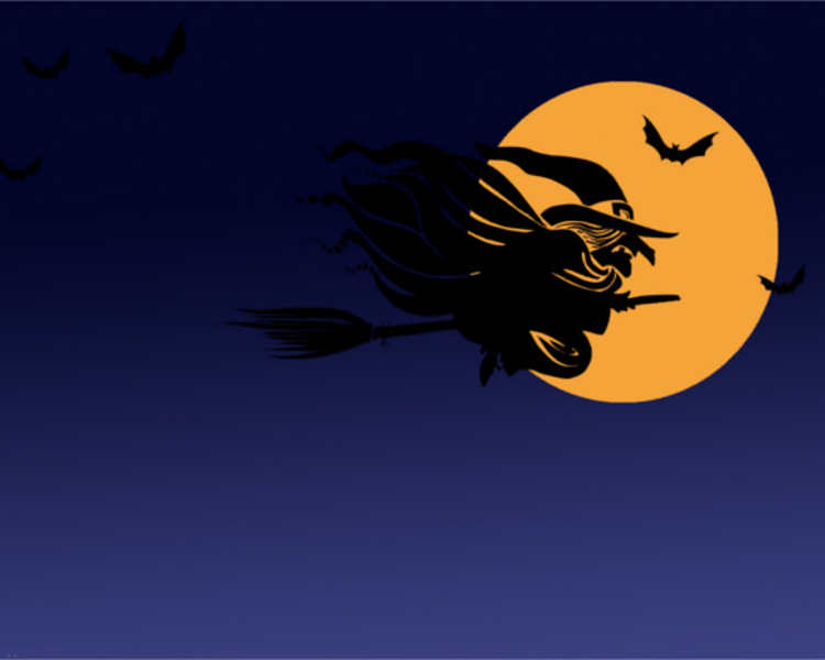 Free Halloween Witch Format PowerPoint Template