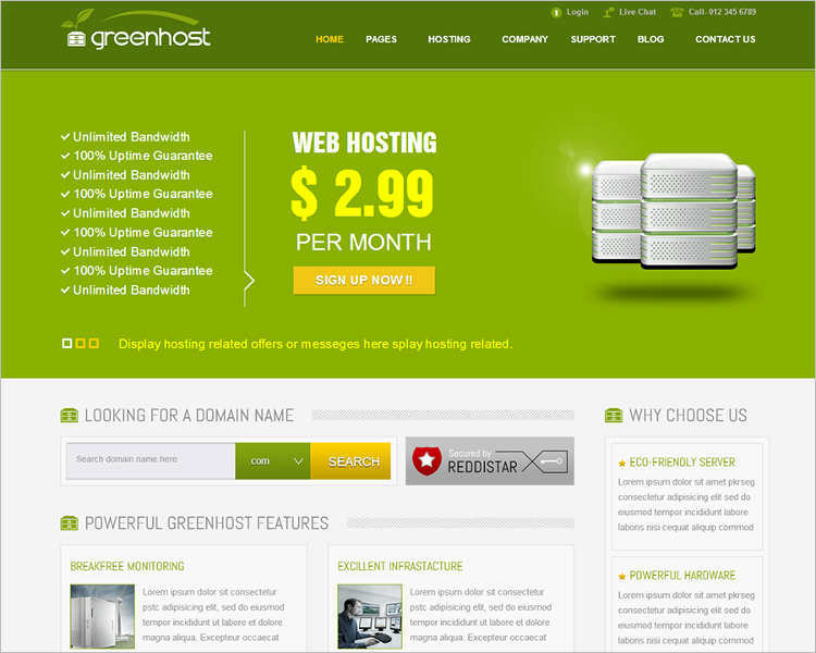 free-joomla-business-hosting-templates