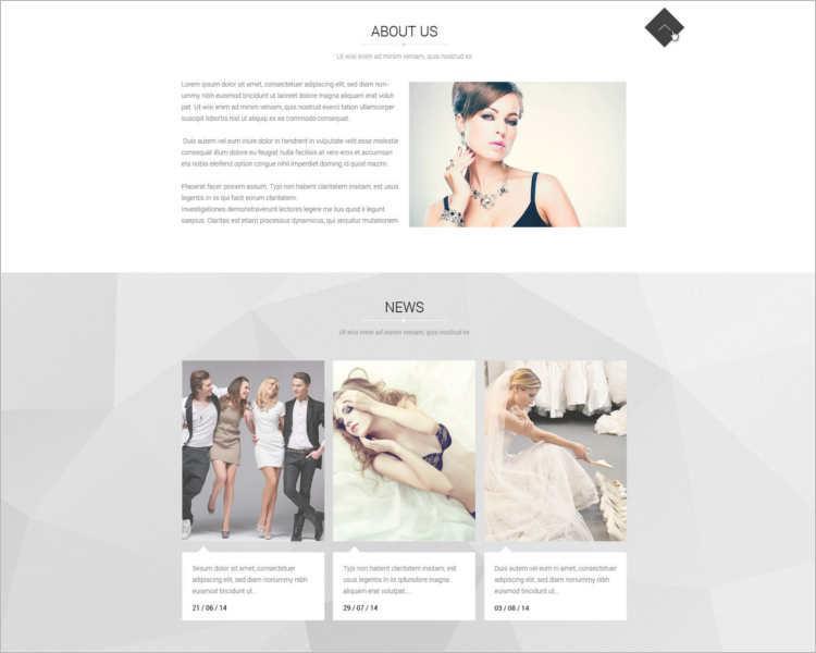 45 model agency website templates free website themes. Black Bedroom Furniture Sets. Home Design Ideas