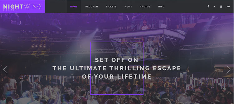 10+ Best Night Club Website Templates Free Download