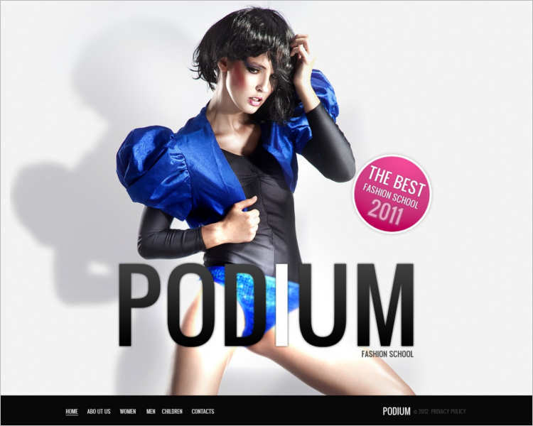 free-podium-model-agency-website-templates