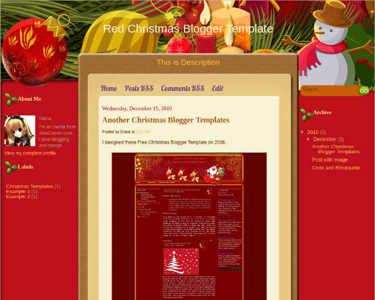 free-red-christmas-blogger-theme-templates