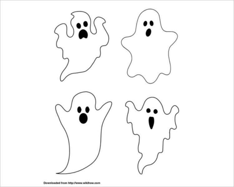 halloween-4-ghosts-printable-templates